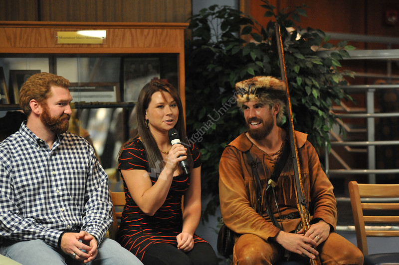 WVU former Mountaineers take part in the  WVU Fireside Chats October 2012 (WVU Photo/Todd Latocha)