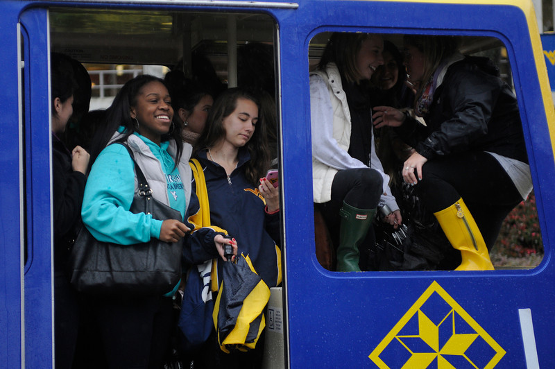 WVU students participate in the  PRT Cram Mountaineer Week October 2012. (WVU Photo/Mel Moraes)