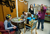 Members of E4P take pat in the Halloween Party at Bartlett House October 2012.(WVU Photo/Jake Lamburth)