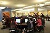 WVU students interact and study in the Downtown Campus Library September 2012 (WVU Photo/Greg Ellis)