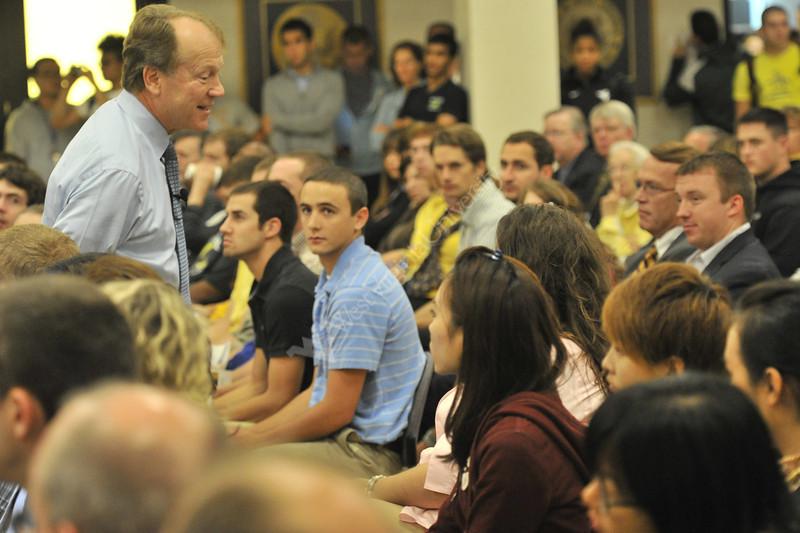 John Chambers Cisco Chairman speaks at the B&E 60th Anniversary lecture series at the Erickson Alumni Center September 2012 (WVU Photo/Greg Ellis)