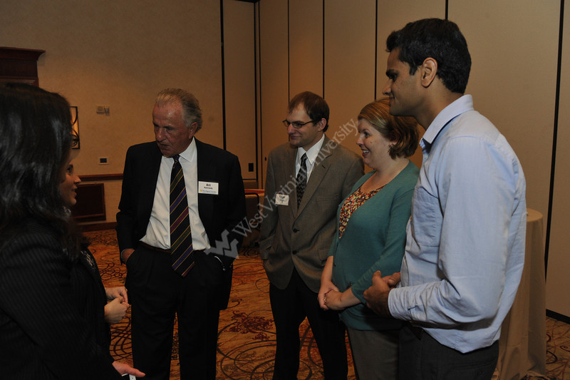 WVU B&E leaderships, alumni and students gather at the WVU B&E Graduate Student Reception September 2012 (WVU Photo/Greg Ellis)