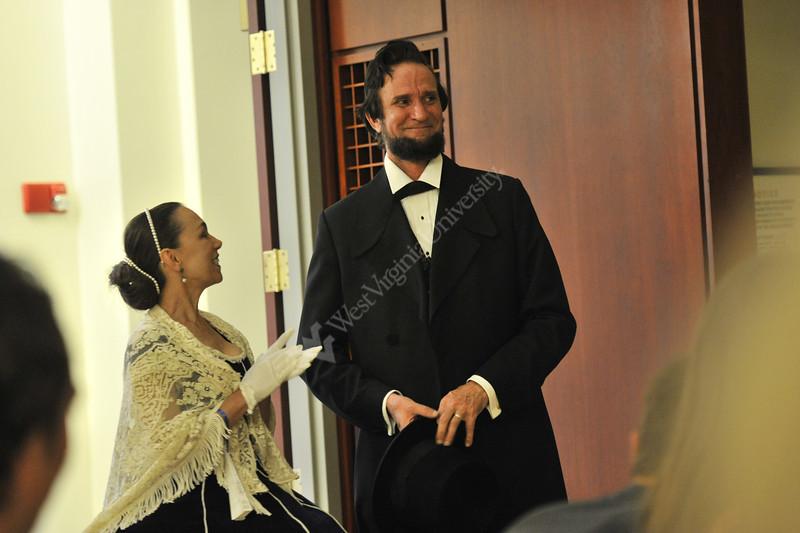 The WVU Constitution Election and Literacy program presents Michael Krebs portraying; Abraham Lincoln at the Erickson Alumni Center September 2012. (WVU Photo/Greg Ellis)