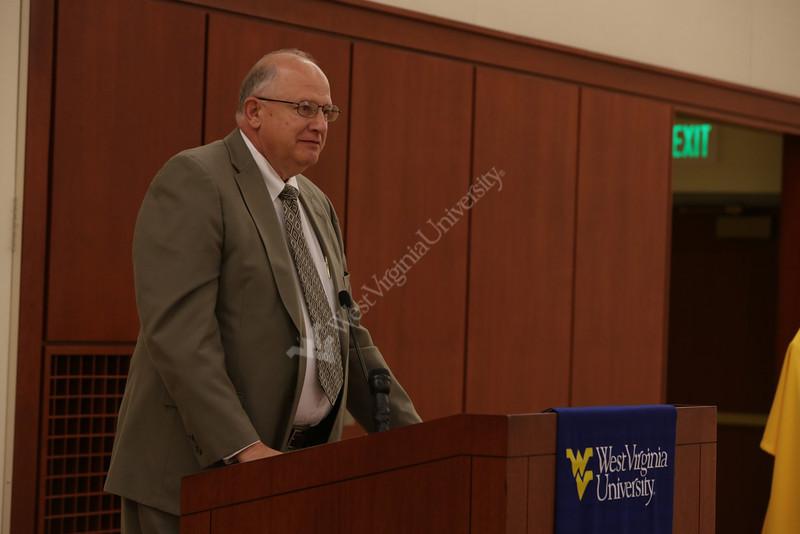 Pat Fehl gift announcement at Alumni Center