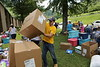WVU students travel to Clay County to deliver supplies to people affected by flooding.  Photo by Scott Lituchy / West Virginia University