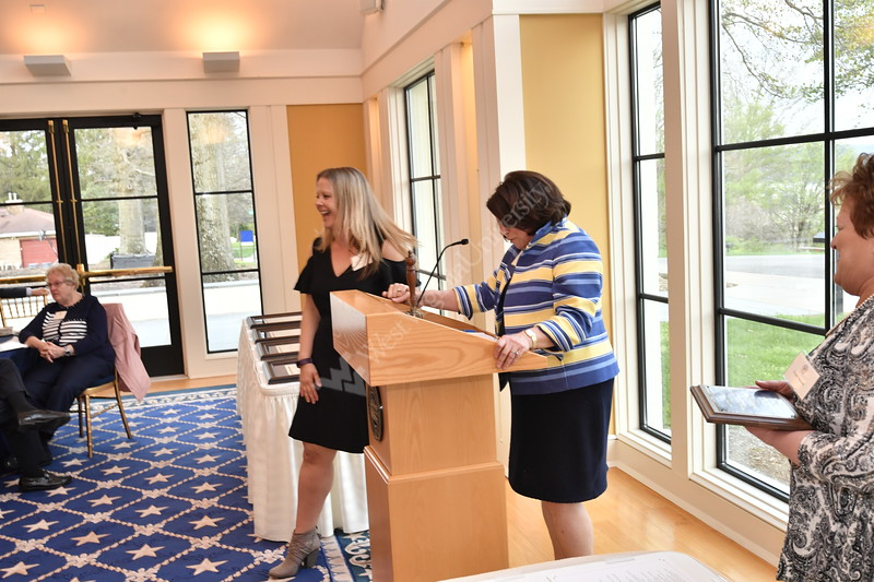 WVU faculty and staff are recognized for their service April 13, 2017 during an award ceremony at Blaney House. The event was hosted by President E Gordon Gee and Provost Joyce McConnell.