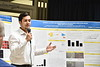 Undergraduate students present their research posters to colleagues at the Cancer Institute August 1st, 2017.  Photo Brian Persinger
