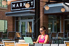 Physical Therapy student Steephanne Magnone enjoys the solute of the Market cafe's patio studying August 2, 2017.  Photo Greg Ellis