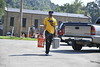 Students and staff volunteer to help cleanup in Mannington, Wv after recent flooding August, 2nd 2017.  Photo Brian Persinger