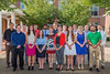 Van Liere Research inductees pose for a group picture in the Erickson Alumni Center courtyard August 3, 2017. Photo Greg Ellis