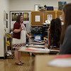 Toni Polling teaches at Fairmont Senior High School.<br /> 33766 WVU MAG Toni Poling<br /> WVU Photo/ Raymond Thompson<br /> WVU Magazine