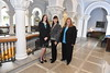 Melissa Morris, Karen Rambo-Hernandez and Robin Hensel pose for post card photographs for the Office of the Provost in Stewart Hall August 31st, 2017.  Photo Brian Persinger