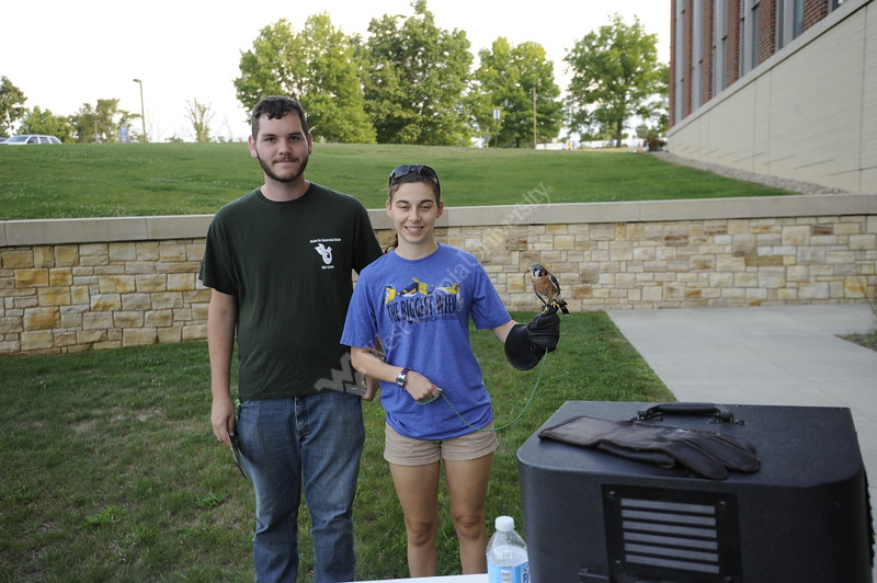 Students, alumni and faculty come together behind the Agricultural Sciences Building on the Evansdale Campus to celebrate the Davis College's and the university's 150th anniversity with a barbecue August 31, 2017. The college also came together to celebrate the naming of the two tomatoes species created at WVU: the Mountainner Delight and the Mountaineer Pride.