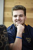 Environmetal and Natural Resources Evonomics major Zachary Spencer poses for photographs in the Ag. Sciences building December 5th, 2017.  Photo Brian Persinger