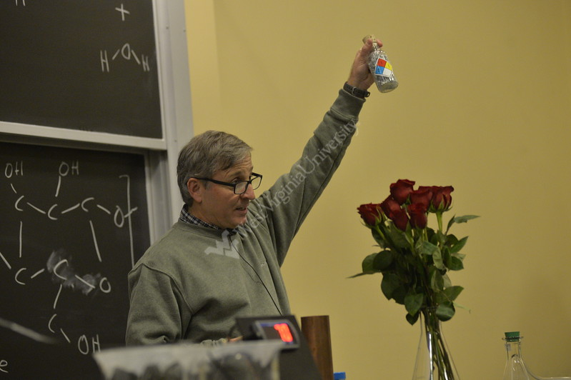 Kids in the community came out to the Children's Chemistry Show to watch and participate in science experiments planned and performed by chemistry professors and students at Clark Hall in Downtown Morgantown Dec. 9, 2017. The Children's Chemistry Show is free event put on by the WVU Chemistry department to get local children excited about science and all of it's possibilities.