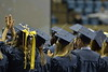 West Virginia University's Eberly College of Arts and Sciences and College of Business and Economics hold their annual December Commencement ceremony December 15, 2017 in the WVU Coliseum in Morgantown. Photo Caroline Nicholas