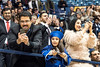 Amjad Khavabah and daughter Ghazal make pictures and share the excitement of commencement Amjad's wife graduated with a degree in Industrial Management December 15, 2017. Photo Greg Ellis