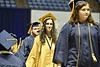 Students and faculty participate in the 2017 December Commencement Ceremony at the Coliseum in Morgantown, WV.