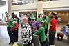 Members of the WVU Men's Basketball team visit with children before Christmas at WVU Medicine Children's Hospital December 21, 2017. Photo Greg Ellis