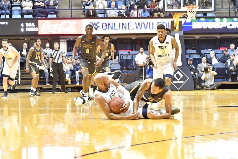 WVU Men's Basketball action vs Coppin State WVU Coliseum December 20, 2017. Photo Greg Ellis