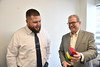 Animal and Food Sciences student John Boney meets with mentor Joel Newman, President, CEO and corporate treasurer of the American Feed Association at their headquarter offices in Arlintgon, Va. December 6th, 2017.  Photo Brian Persinger