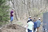 Assistant Professor Vaike Haas, lead designer/planner for the Davis College School of Design and Agriculture and her students perform maitenance and plant on the Falling Run trails of the downtown campus February 23rd, 2017.