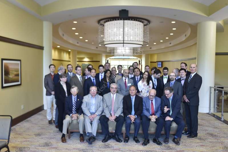 Attendees of the Otylaryngology Alumni Conference pose for a photo in the Waterfront Place Hotel June 10, 2017.