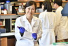 Cancer researcher Dr Wei Du is seen in her lab June 6, 2017. Dr Wei Du was awarded $100,000 by the Leukemia Research Foundation to investigate a method for increasing the effectiveness of stem cell transplantation. Photo Greg Ellis