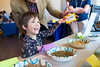 Stella Sardone-Jones, 4, beams as she matches the correct feed to the animals at the Agricultural Sciences table at the When I Grow Up... event Wednesday, March 29, 2017 in the Museum Education Center. Over 20 different booths were set up with different activities for girls to come and explore the different possibilities they can persue as they grow older.