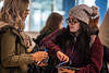 """Oleana Zepeda a Criminogy major makes a donation online during WVU's """"Day of Giving"""" campaign in the Mountainlair November 8th, 2017.  Photo Brian Persinger"""