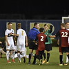 WVU Men's Soccer team ties Northern Illinois University 1-1 on October 7, 2017.