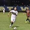 WVU Men's Soccer team ties Northern Illinois University 1-1 on October 7, 2017.