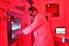 Tim Nurkiewicz, Director of Toxicology Working Group and Inhalation Facilities, WVU School of Medicine, Department of Physiology, Pharmacology and Neuroscience works in his lab perparing research. October 12, 2017. Photo Greg Ellis