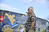 Special Guest Jay Chattaway directs the WVU band at their practice field of the Colseum October 12th, 2017.  Photo Brian Persinger