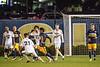 The WVU Men's Soccer team hosts Western Michigan at Dick Dlesk Soccer Stadium October 20th, 2017.  Photo Brian Persinger