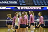 The Mountaineer volleyball team faced off against Kansas State University at the Coliseum in Morgantown, West Virginia on October 21, 2017. WVU won 3 sets to 2.