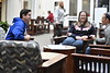 Staff and students pose for photographs at the Wise Library on the Downtown Camups October 25th, 2017.  Photo Brian Persinger