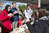 Members of the WVU health care community and HSC students enjoy cookies and hot beverages provided by LGBTQ Center at WVU at the HSC Fall Fair October 26, 2017. Photo Greg Ellis