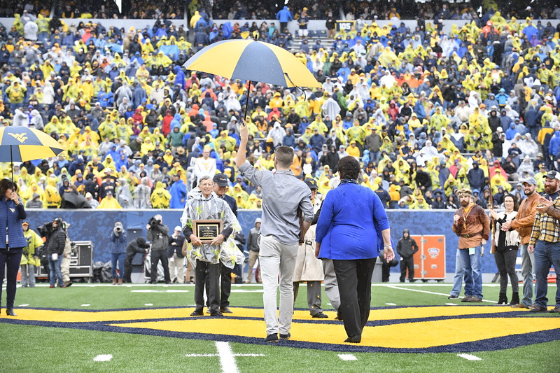 The 2017 Most Loyals are announced during halftime of the OSU game Octobber 28th, 2017.  Photo Brian Persinger