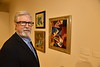 Bernie Shultz poses for photographs in the Art Museum on the Evansdale Campus Septempber 19th, 2017.  Photo Brian Persinger
