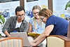 WVU School of Public Health students interact with faculty and staff on the WVU HSC campus September 15, 2017. Photo Greg Ellis