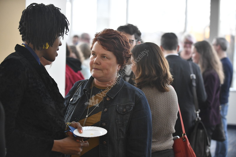The College of Eberly of Arts and Sciences hosts their Outstanding Staff and Faculty event in the Mountaineer Room of the Mountainlair April 5th, 2018.  Photo Brian Persinger