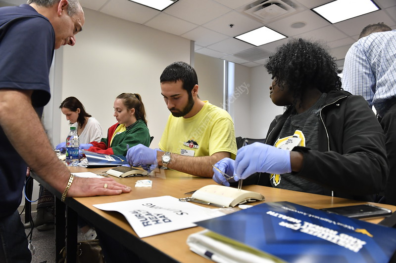 The WVU Institute for Curmmunity and Rural Health hosts the WVU Rural Health Day at the Health Sciences Center April 14th, 2018.  Photo Brian Persinger