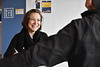 Emily Pelland poses for marketing images with Joel Beeson in the Media Innovation Center at Evansdale Crossing April 19th, 2018.  Photo Brian Persinger