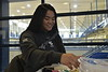 WVU students participate in activites at CHILLFestin the Student Recreation Center April 19, 2018. During the free event, students could participate in painting, animal therapy, blacklight yoga and more.