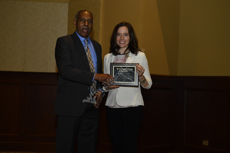 Students and faculty of WVU's College Of Physical Activity and Sport Sciences recieve awards for their achievements within the college April 20, 2018 in the Morgantown Event Center.