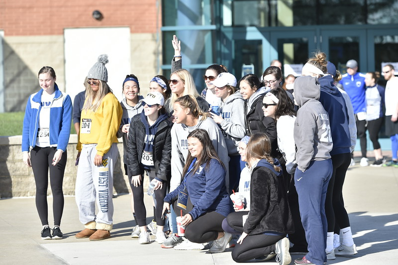 Students participate in the Yards for Yeardley 5k race on April 21, 2018 at the Rec Center.