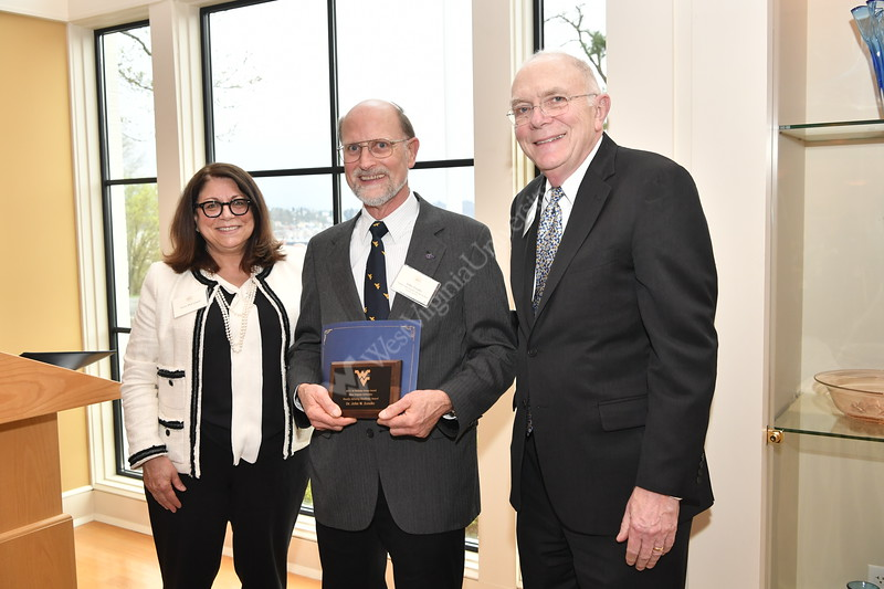 WVU faculty, staff and guests participated in the faculty staff awards hosted by WVU President E. Gordon Gee and Provst Joyce McConnell, at Blaney House April 25, 2018. Photo Greg Ellis