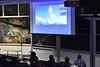 Joan Centrella gives a lecture about Astrophysics and the history of the universe in White Hall on April 25, 2018.