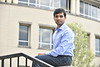 Sobhit Singh poses for a marketing photograph outside Wise Library April 27th, 2018.  Photo Brian Persinger